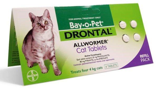Дронтал для кошек - инструкция по применению