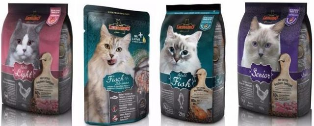 Корм для кошек Леонардо - состав и виды кормов
