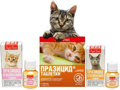 Празицид для кошек - инструкция и характеристика препарата